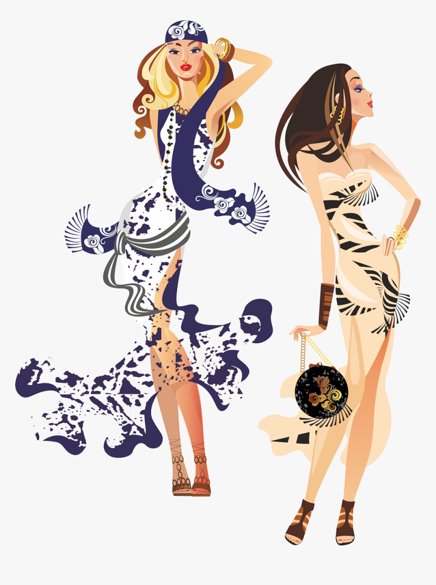 - Silouette Of Fashion Women Png - Fashion Woman Silhouette Vector, Transparent Png, Free Download