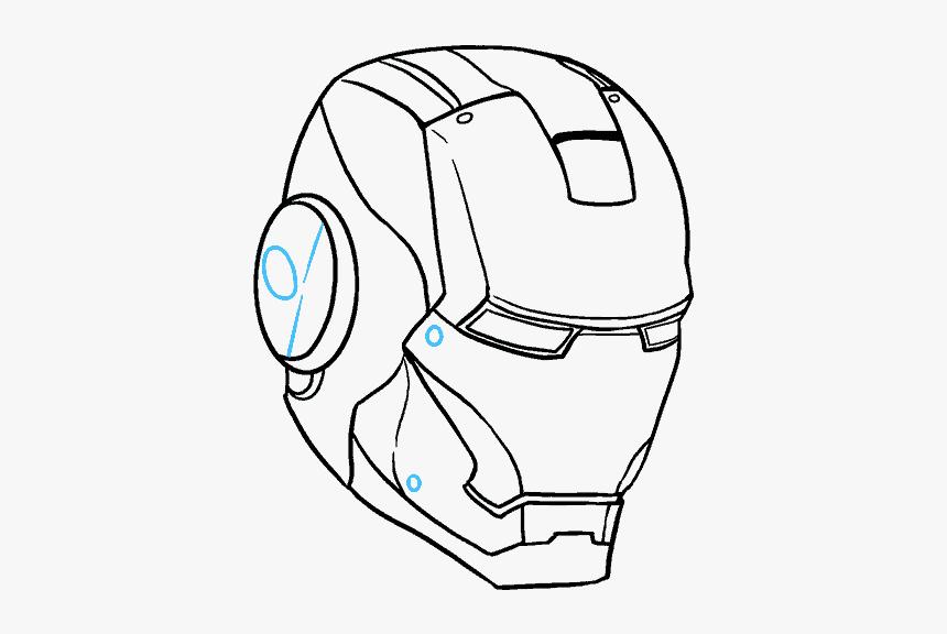 Durga Drawing Mask Goddess - Iron Man Drawing Helmet, HD Png Download, Free Download