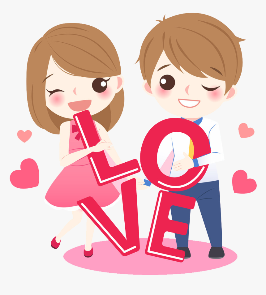 Couple Lovely Love Cartoon Drawing Png File Hd Clipart Cute Cartoon Couple Png Transparent Png Kindpng