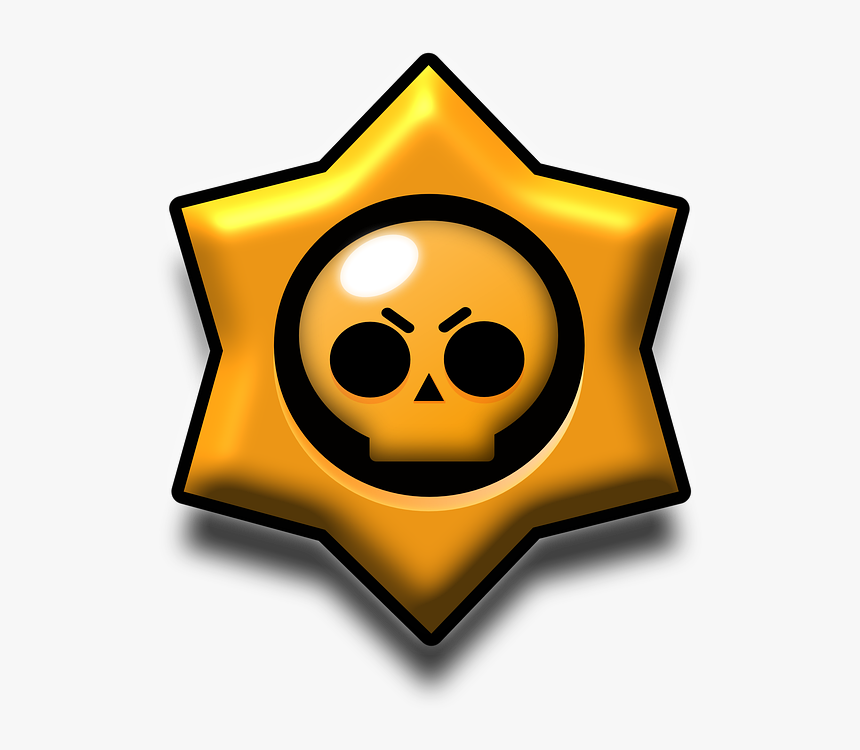 Brawl Stars, Star, Skull And Crossbones, Skull - Brawl Stars Skull, HD Png Download, Free Download