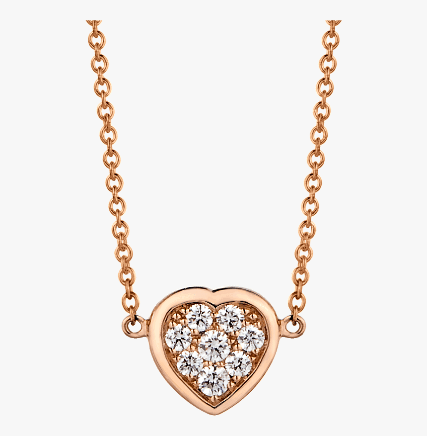 Transparent Heart Cluster Png - White Gold Necklace, Png Download, Free Download
