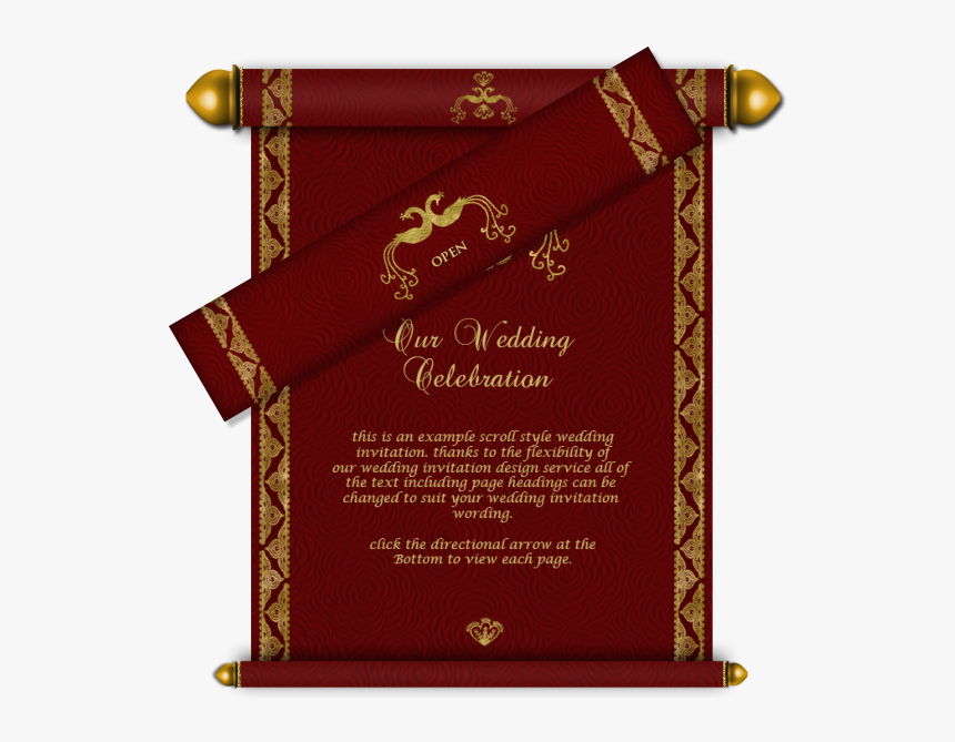 Pakistani Wedding Invitations Usa Indian Wedding Invitations Wedding Card Scroll Design Hd Png Download Kindpng