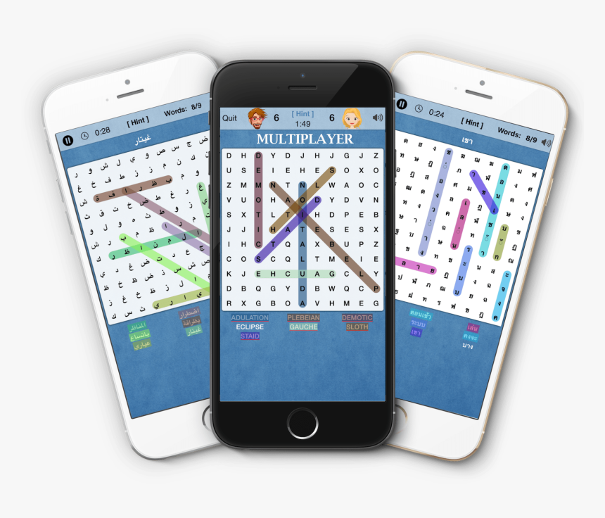 Word Search Multiplayer - Iphone, HD Png Download, Free Download