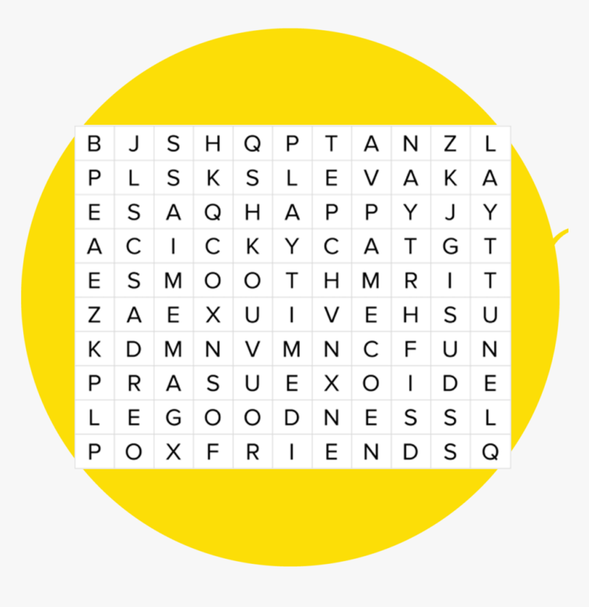 Word Search Png, Transparent Png, Free Download