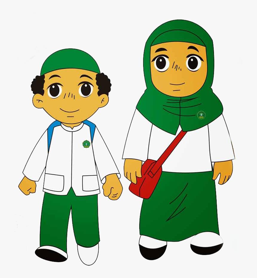 Anak Kartun Muslim Clipart Cartoon Child Moslem Kids