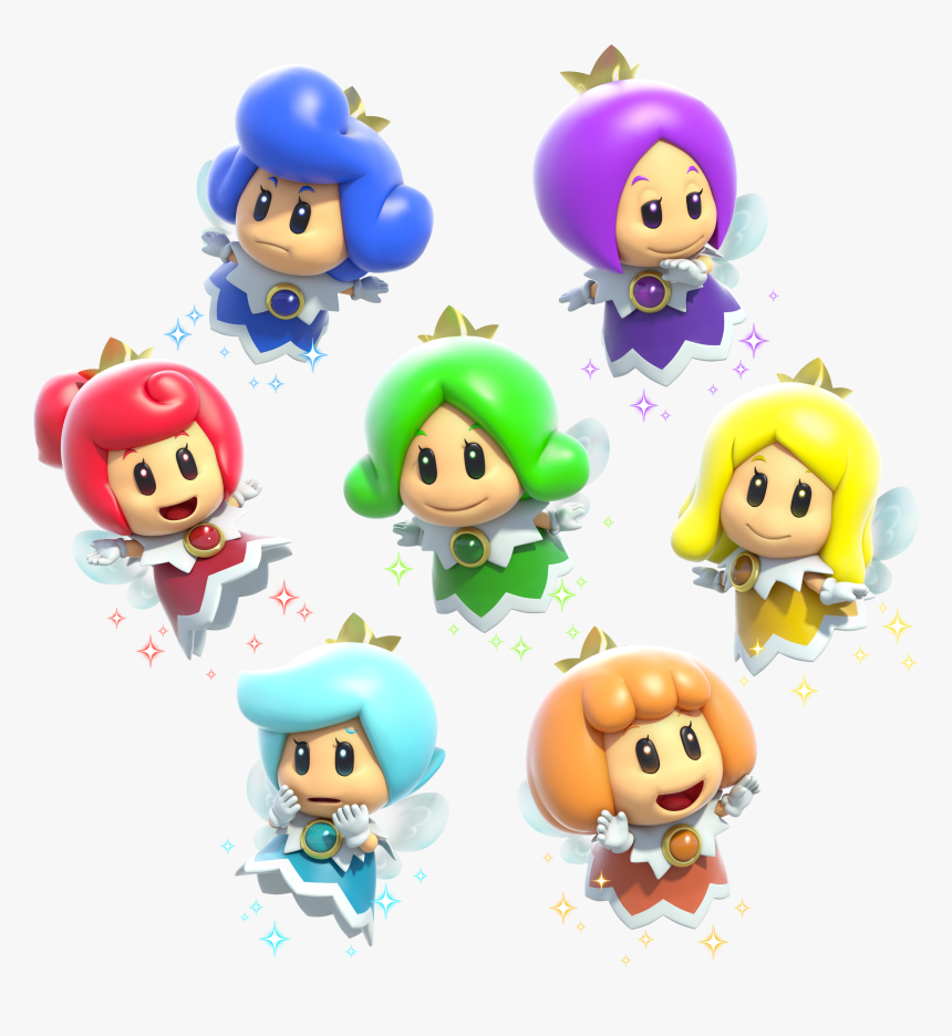 Fairy Group Artwork - Fee Mario 3d World, HD Png Download, Free Download