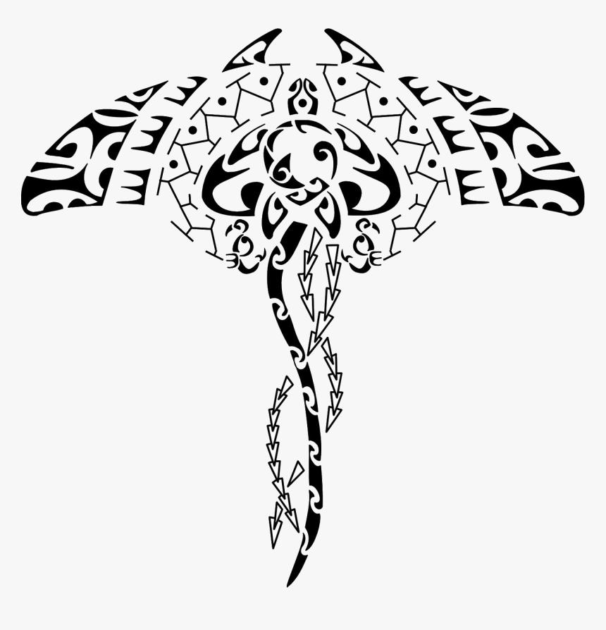Polynesia Mori People Manta Ray Tattoo Symbol - Maori Tattoo Vorlagen Frau, HD Png Download, Free Download