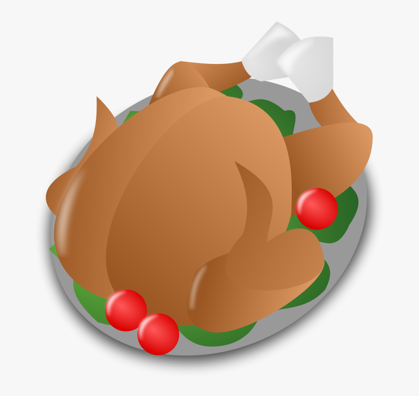 Clip Art Turkey Clip Art Christmas - Christmas Dinner Cartoon Png, Transparent Png, Free Download