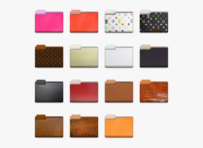 Leather Folder Icon Pack By Lemarquis - Free Mac Folder Icon, HD Png Download, Free Download