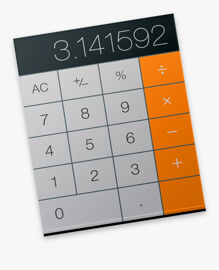 Calculator Icon - Apple Mac Calculator Icon, HD Png Download, Free Download
