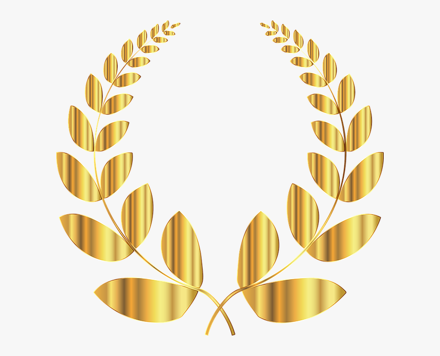 Laurel, Wreath, Conquest, Triumph, Victory, Win, Golden - Gold Wreath Transparent Background, HD Png Download, Free Download