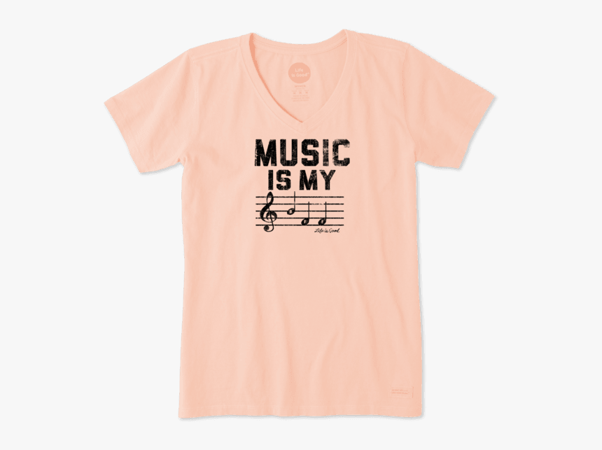 """Women""""s Music Is My Bff Crusher Vee - Active Shirt, HD Png Download, Free Download"""