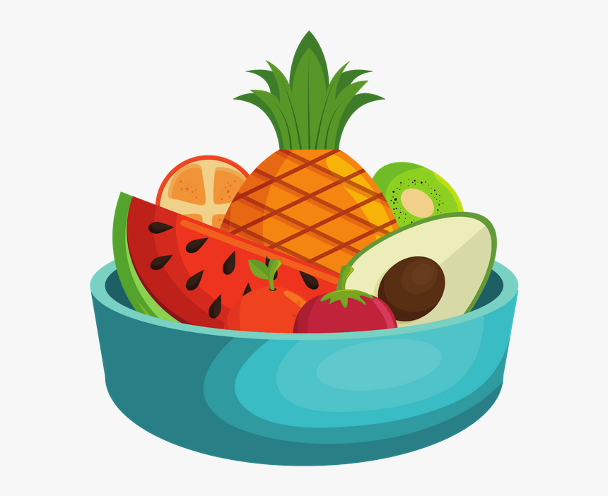 Fruit Bowl Healthy Food Clipart Png Transparent Png Kindpng