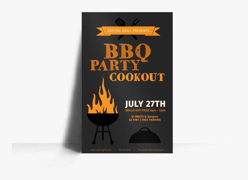 Bbq Party Cookout Poster Template Preview - Poster, HD Png Download, Free Download