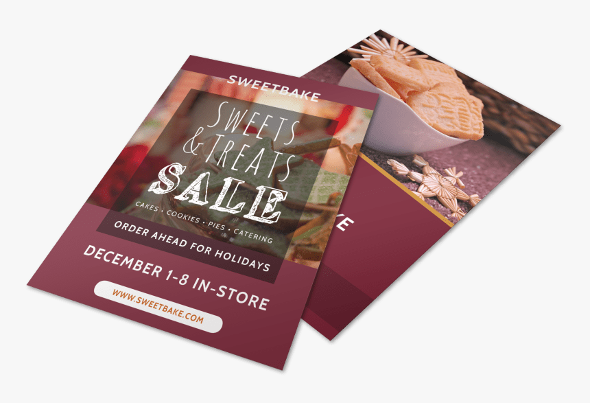 Christmas Bake Sale Flyer Template Preview - Flyer, HD Png Download, Free Download