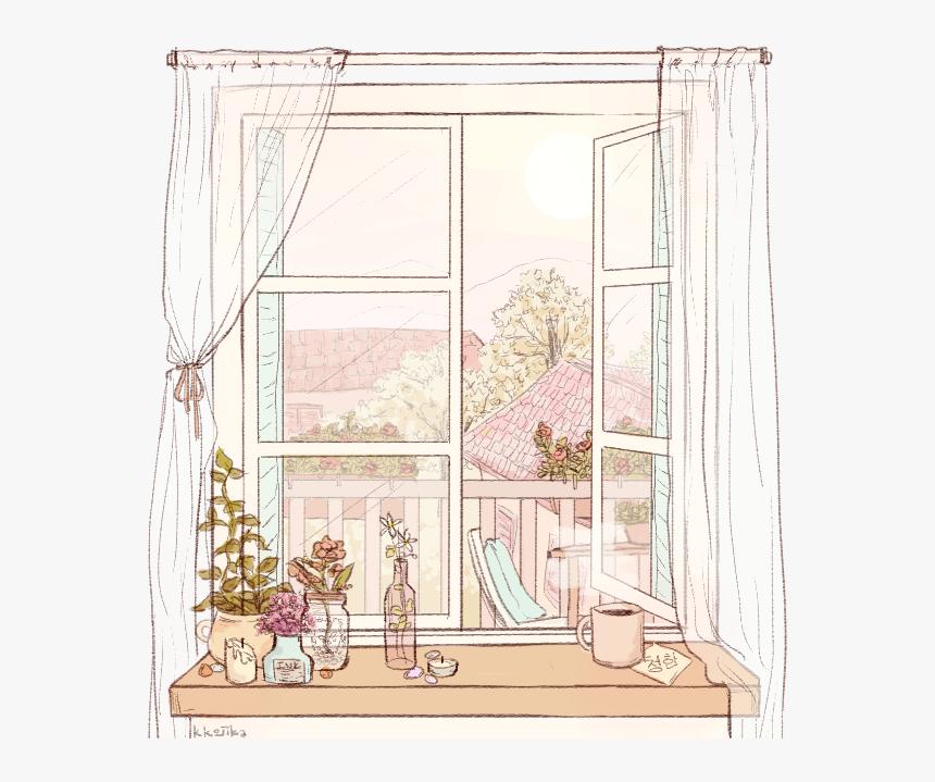 House Window Curtain Freetoedit Ventana Tumblr Dibujos Hd