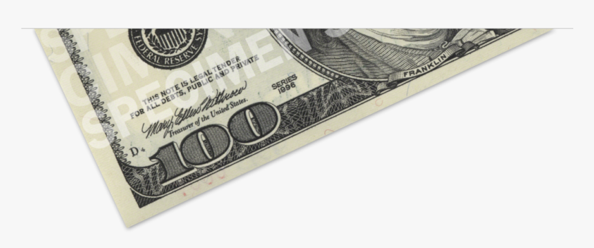 Download Printing Us Dollar - 100 Dollar Bill, HD Png Download, Free Download