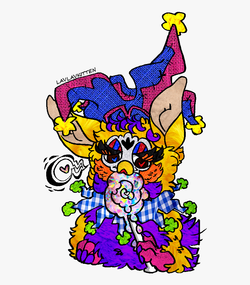 """A Glorious Picture Of @rnother-hen""""s Jester Furby Trix - Jester Furby, HD Png Download, Free Download"""