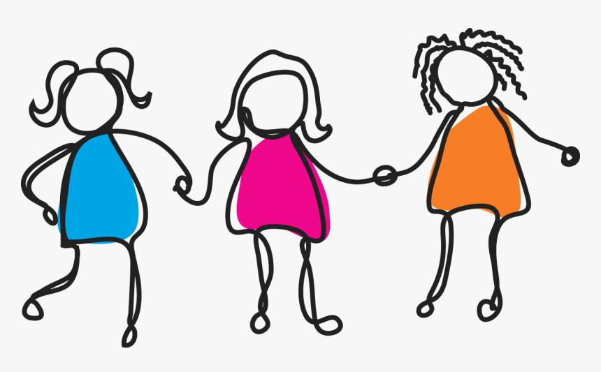 Three Girls Png - International Girl Child Day 2019, Transparent Png, Free Download
