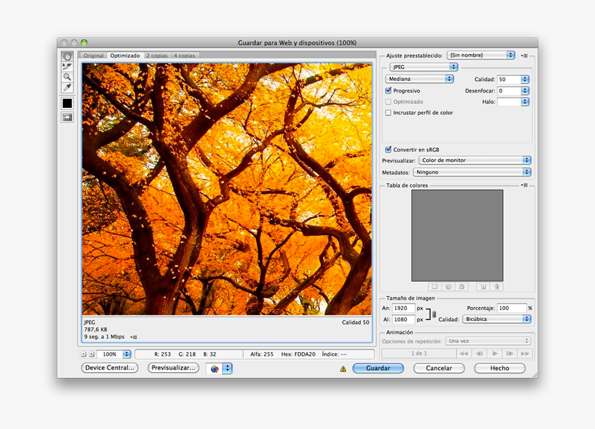 Guardar Imagen Jpg Para Web Con Photoshop - Autumn Desktop Backgrounds Mac Hd, HD Png Download, Free Download