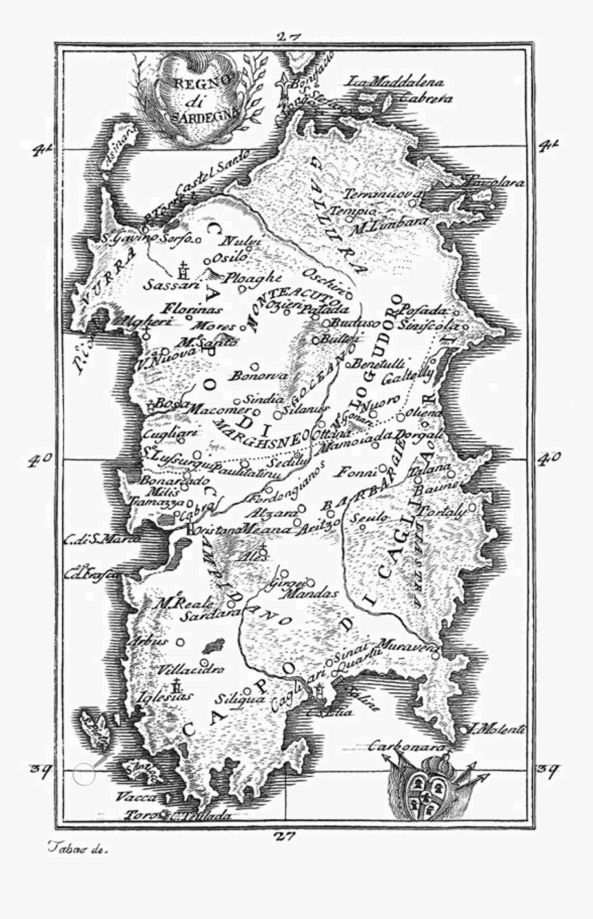 Old Map Of Sardinia , Png Download - Old Map Of Sardinia, Transparent Png, Free Download