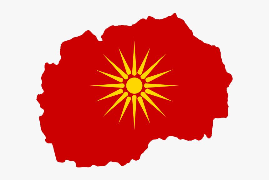 Flag-map Of Macedonia - Capital City Of Macedonia Map, HD Png Download, Free Download