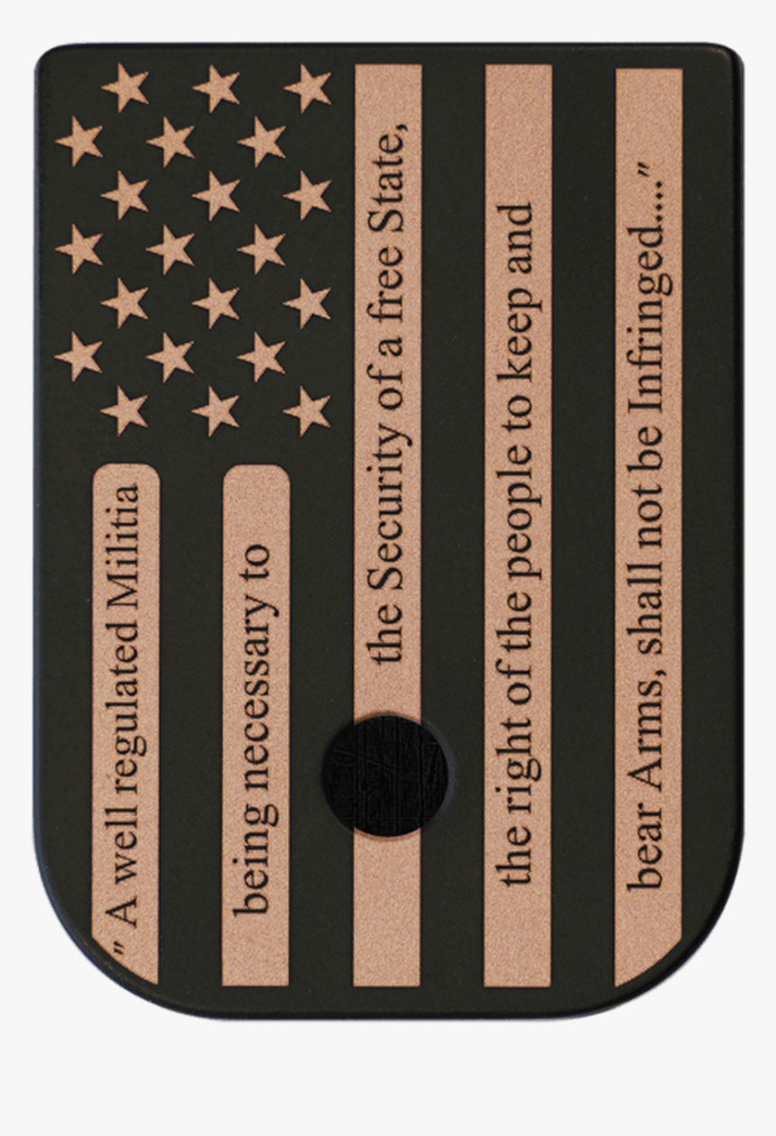 American Flag 2a Brass Black Traditional Finish Mag - Flag, HD Png Download, Free Download