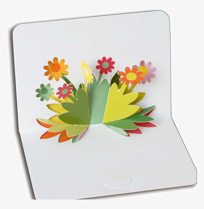 Popup Flowers Blank Greetings Card A6 - Handmade Card Designs Flower, HD Png Download, Free Download