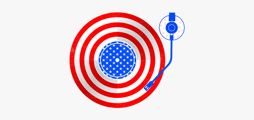 Usa Flag Vinyl Record, HD Png Download, Free Download
