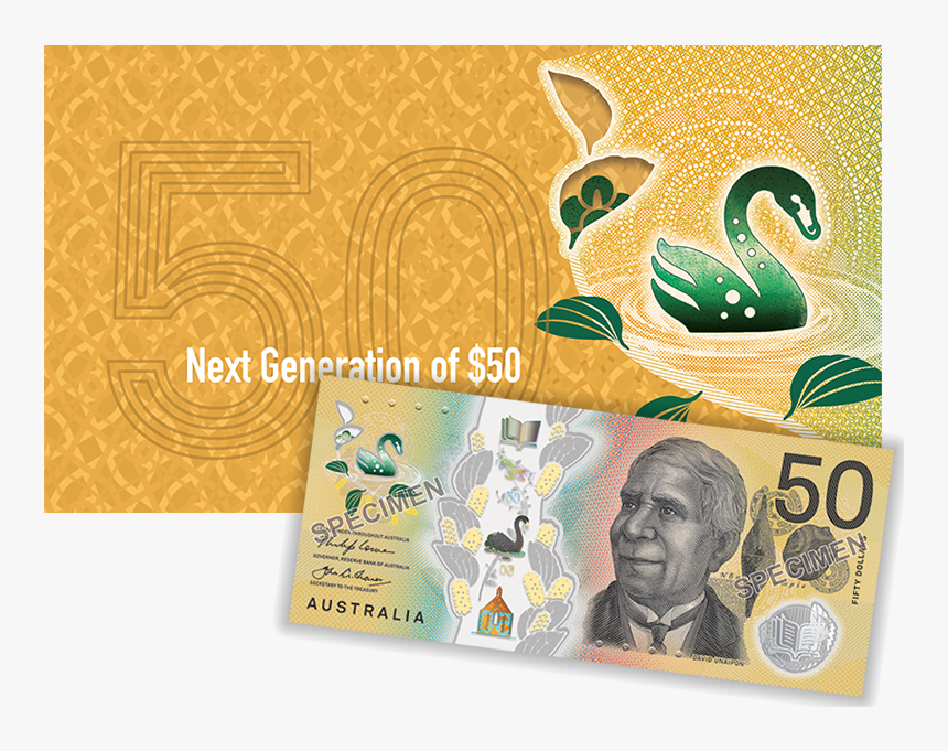 Next Generation Of $50 Product Photo Internal 2 Details - 100$ Australian Note, HD Png Download, Free Download