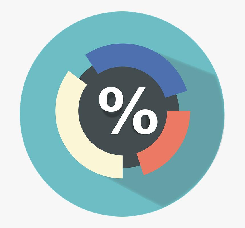 Flat, Icon, Flat Icon, Percentage, Finance, Work - Percentage Flat Icon, HD Png Download, Free Download