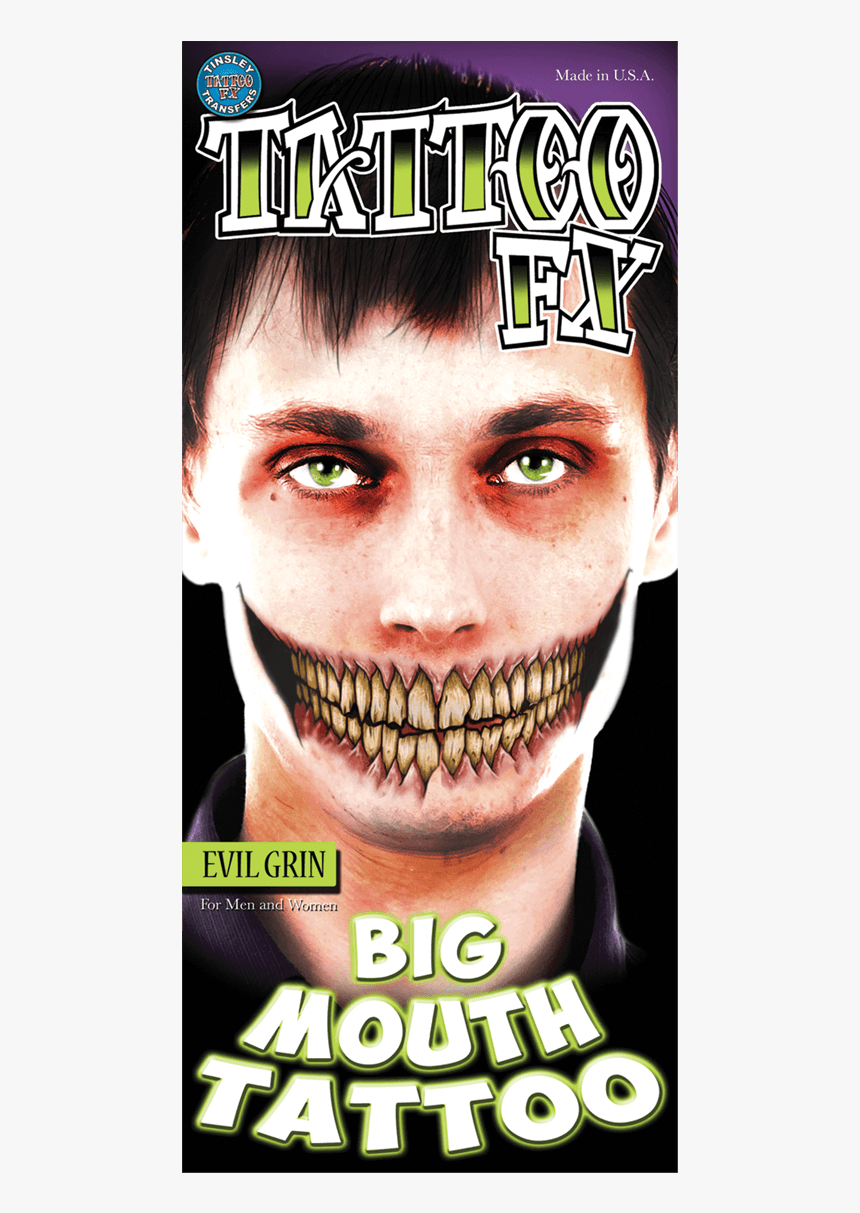 Big Mouth Tattoo Fx, HD Png Download, Free Download