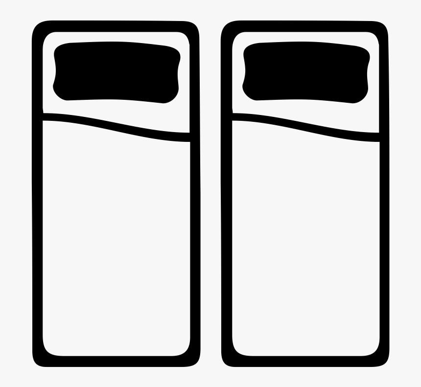 Two Twin Beds, HD Png Download, Free Download