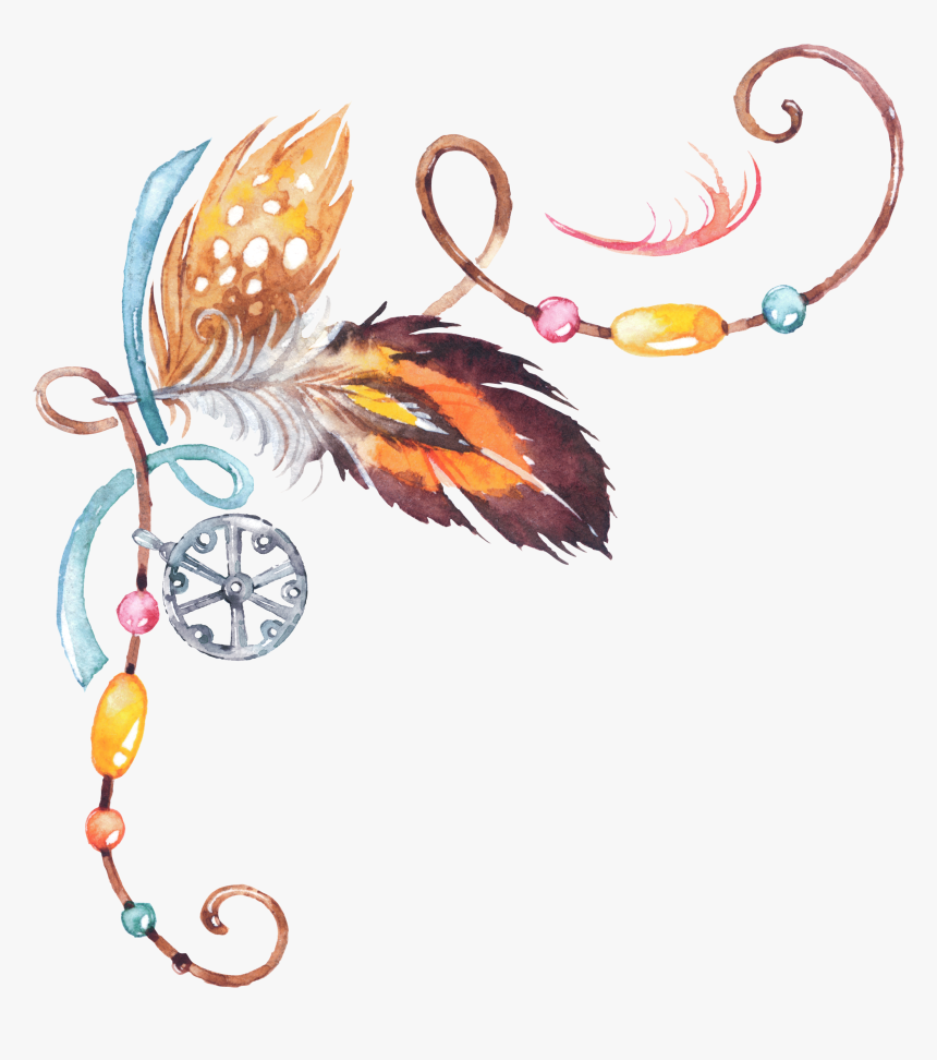 #fearher #feathers #corner #frame #border #filigree - Feathers Border Png, Transparent Png, Free Download