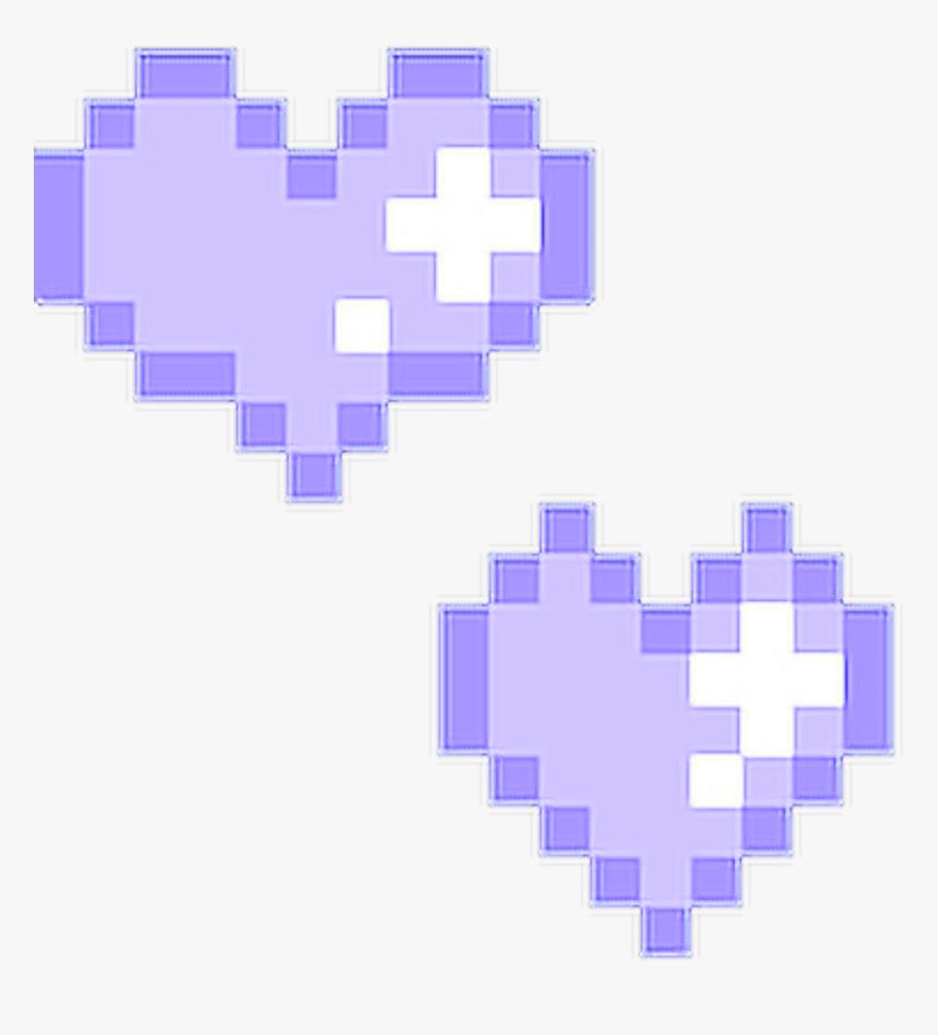 #pastel #purple #heart #hearts #aesthetic #aesthetics - Pixel Kawaii Heart, HD Png Download, Free Download