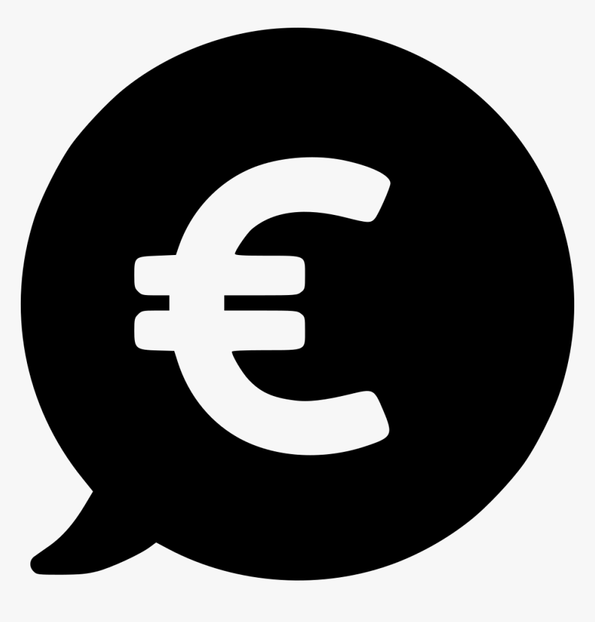 Currency Euro Price Bubble Internet Icon White Hd Png Download Kindpng