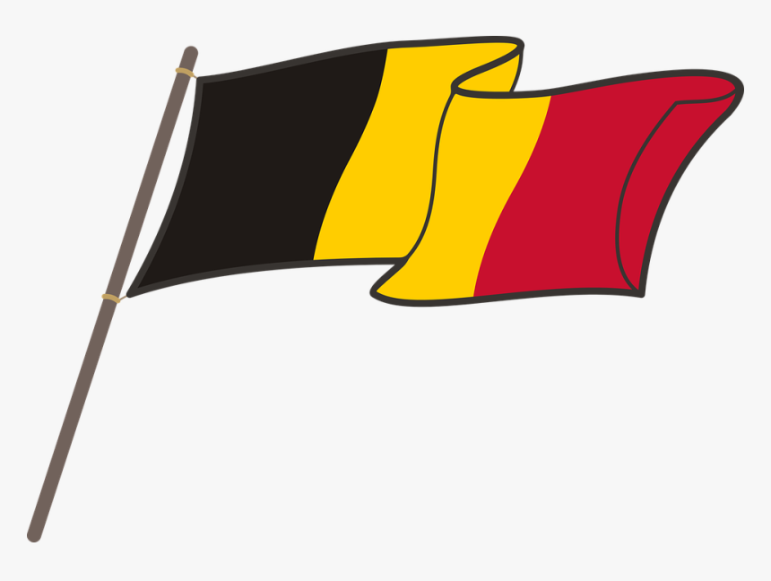 Belgium, Flag, Graphics, National Colors, The Mast - German Flag Clipart Png, Transparent Png, Free Download