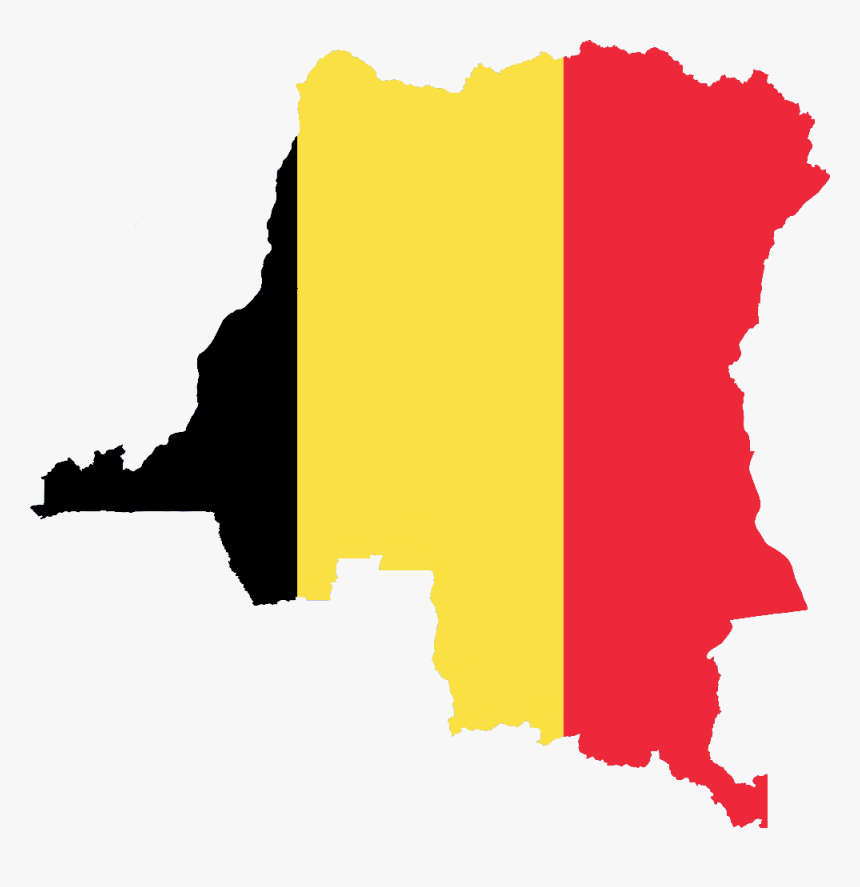 Flag Map Of Belgian Congo - Flag Map Of Democratic Republic Of The Congo, HD Png Download, Free Download
