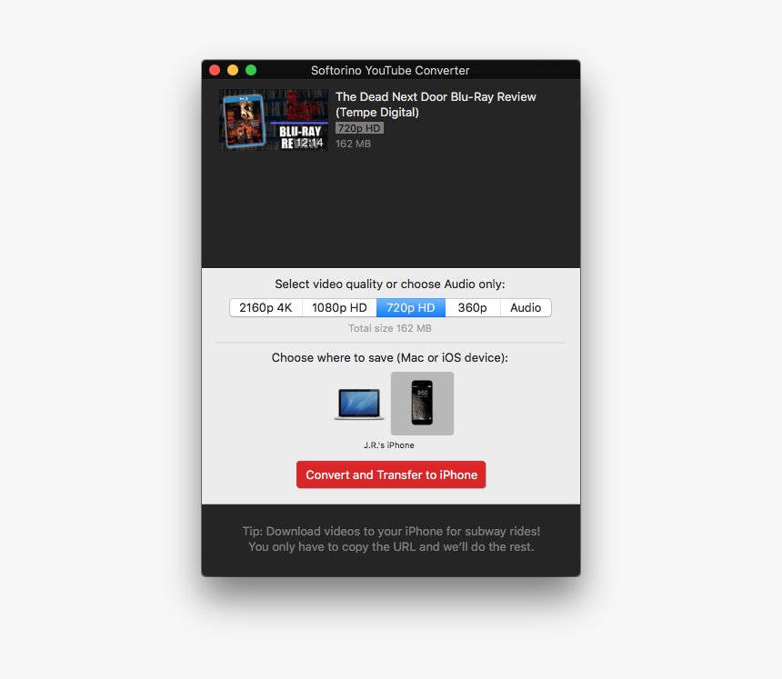 In Just A Few Clicks, Softorino Youtube Converter Makes - Iphone Youtube Thirdparty App, HD Png Download, Free Download