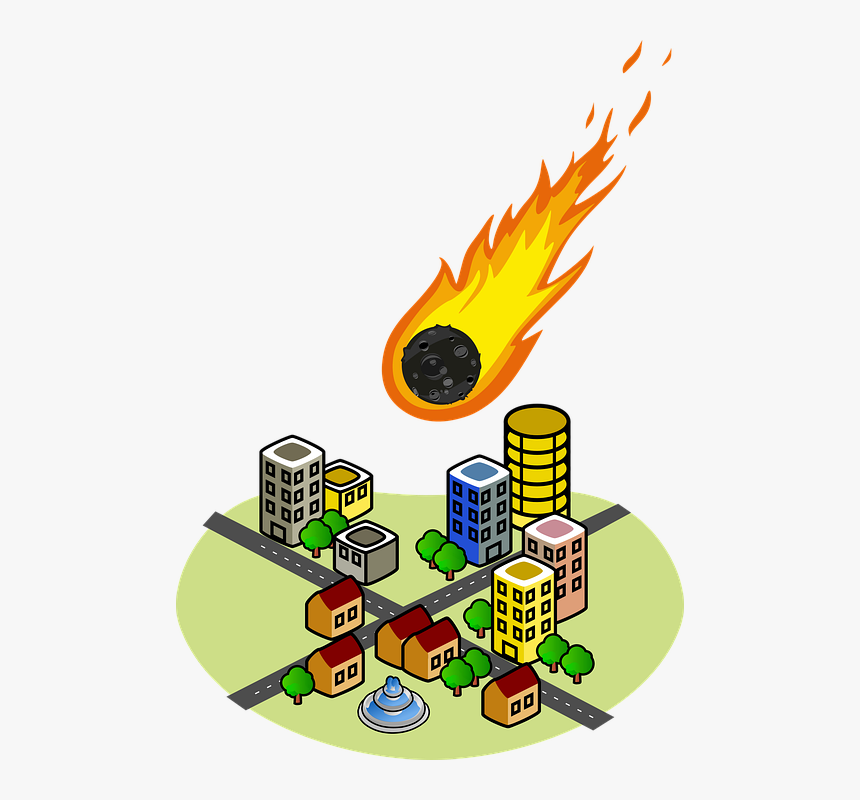 Emergency, Disaster, Asteroid, Meteorite, Impact, Space - Office Building Clip Art, HD Png Download, Free Download
