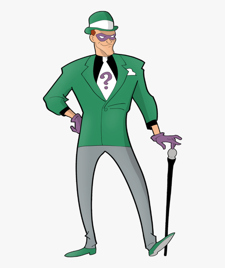 Riddler Png Page - Batman The Animated Series Riddler Draw, Transparent Png, Free Download