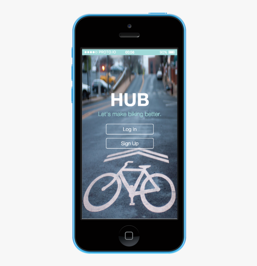 Hub Home-02 Iphone5c Blue Portrait, HD Png Download, Free Download