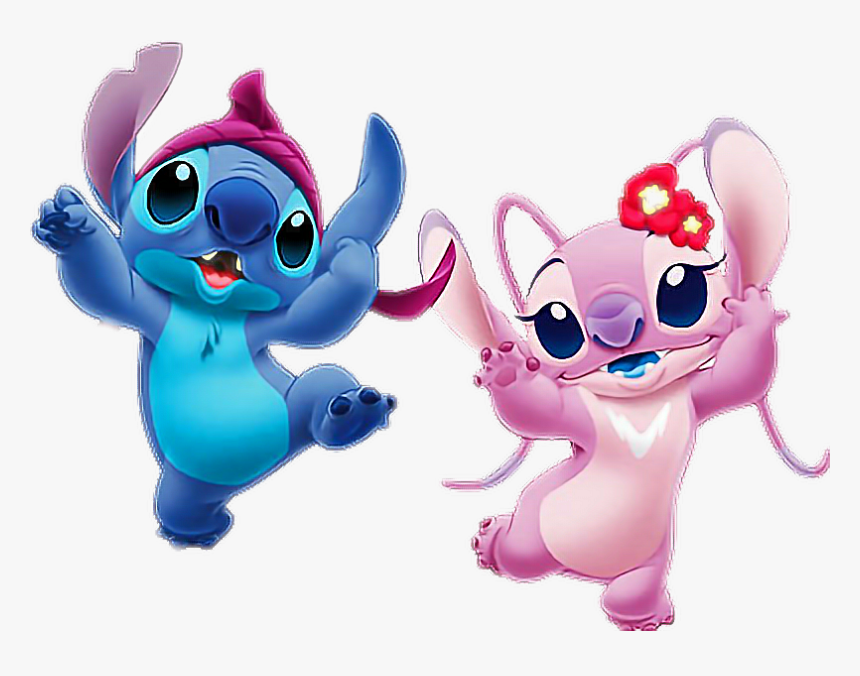 Stich Stiches Stich Lilo Stich Love Loveyou Stitch And Angel Png Transparent Png Kindpng