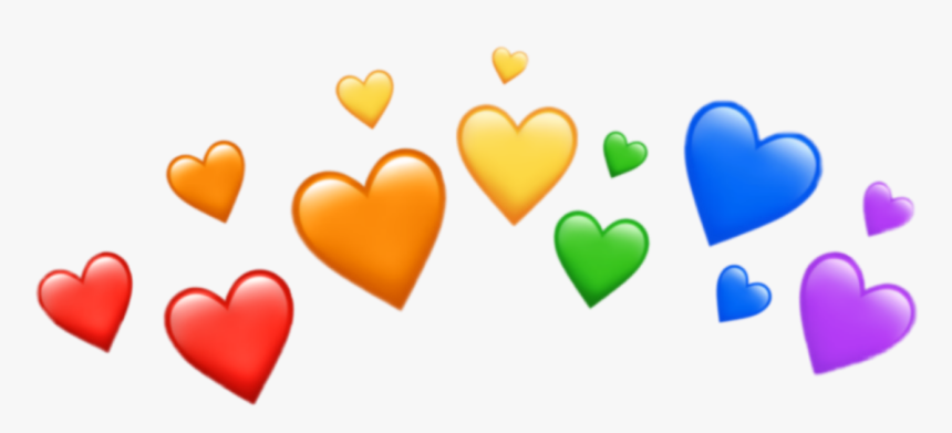 #colors #color #overlay #crown #heart #hearts #emoji - Transparent Heart Emoji Overlay, HD Png Download, Free Download