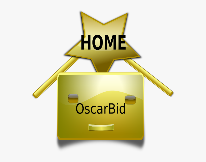 Oscarbid Home Button Svg Clip Arts - Clip Art Gold Star Transparent, HD Png Download, Free Download