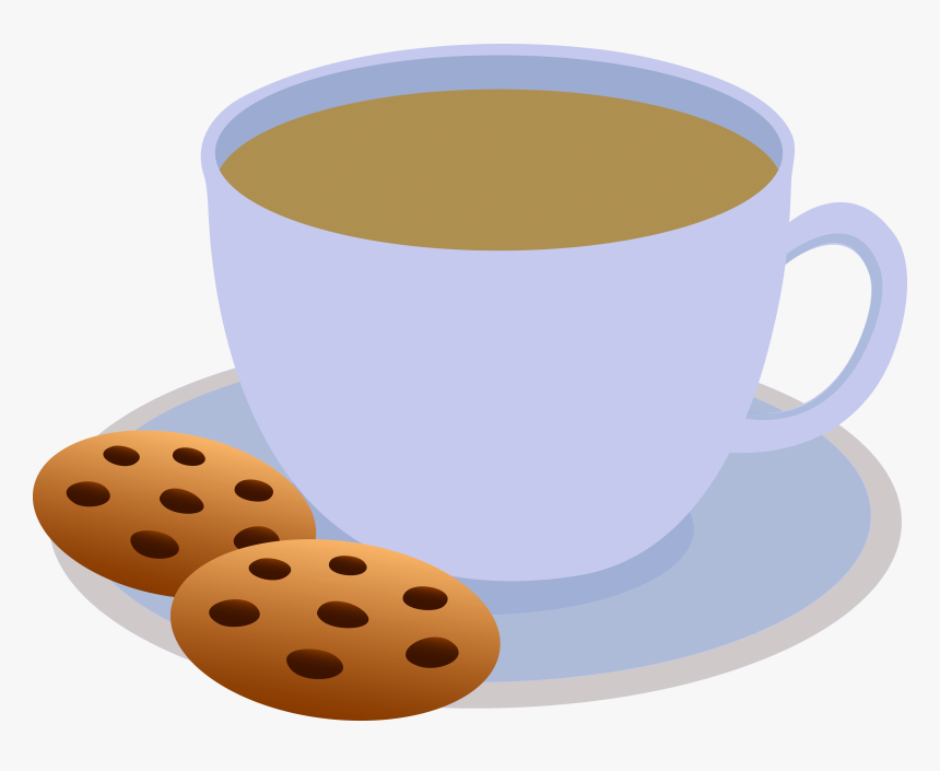 Plate Of Cookies Clipart - Hot Chocolate And Cookies Clipart, HD Png Download, Free Download