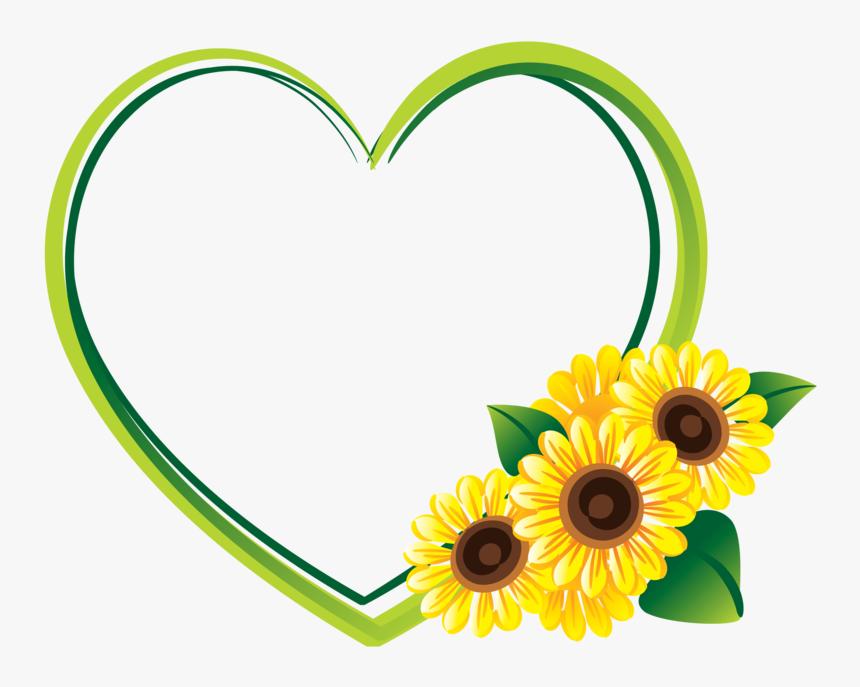 Marco De Girasoles Png - Border Sunflower Clipart, Transparent Png, Free Download