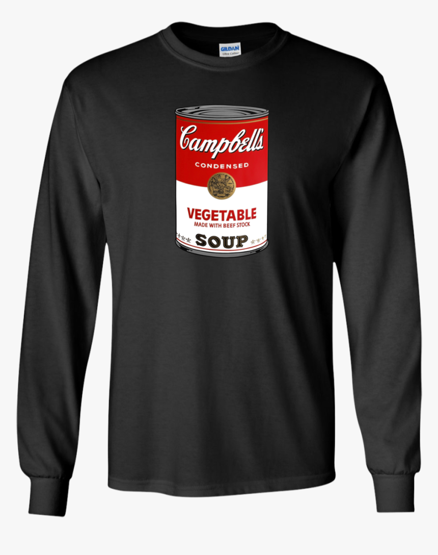 Campbell 039 S Soup Can Andy Warhol Pop Art Long Sleeve - Supreme T Shirt For Man, HD Png Download - kindpng