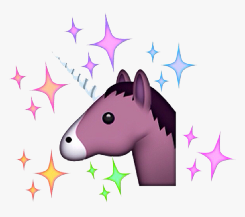 Png Edit Freetoedit Tumblr Overlay Emoji Unicorn - Getting A Facial Before And After Unicorn, Transparent Png, Free Download