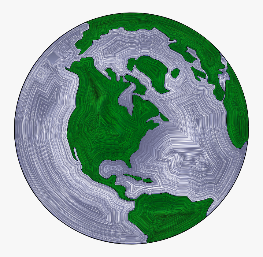 Earth Globe Stylized - Earth Black And White Png, Transparent Png, Free Download